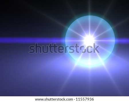 Ominous glowing crystal ball background - stock photo