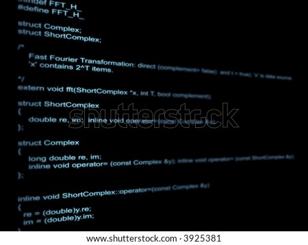 On a black background a program code - stock photo