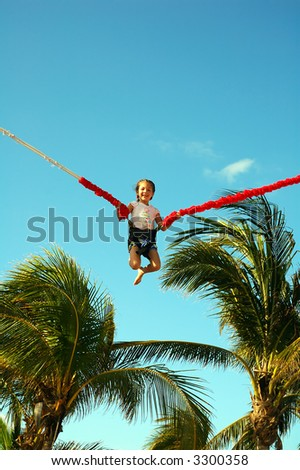 On a bungee - stock photo