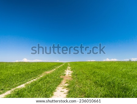 On a Country Lane Road and Nobody  - stock photo
