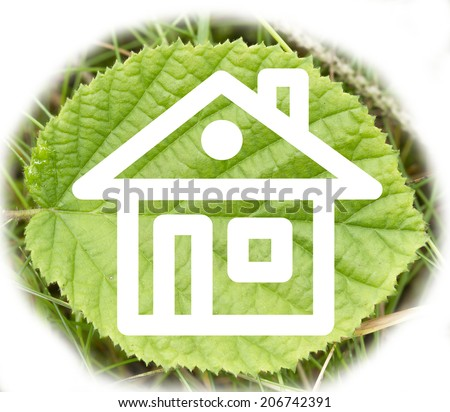 on a green leaf visible contour home