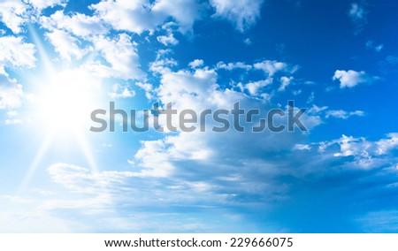 on a Sunshine Day Sunny Heaven  - stock photo