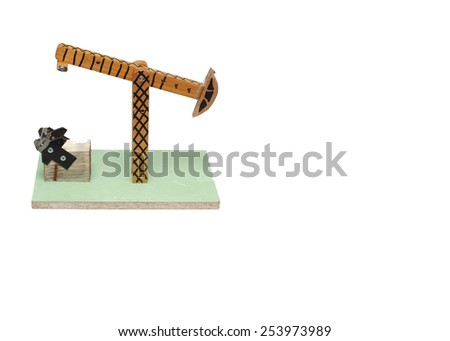 on a white background toy rocking oil