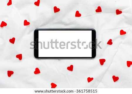 on a white soft silk background - stock photo