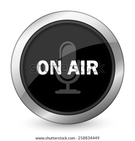 on air black icon   - stock photo