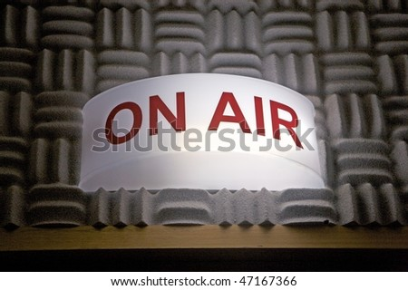On air broadcasting sign - stock photo