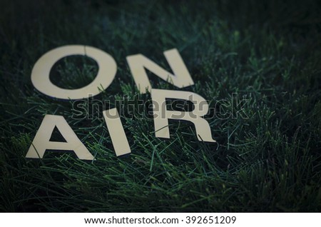 On Air: for eco, nature, environment radio show - stock photo