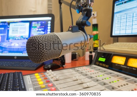 On air radio - stock photo