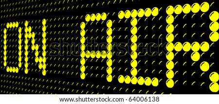 on air sign - stock photo