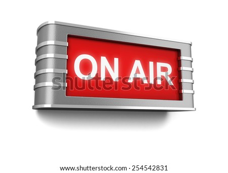 On air sign. 3d illustration isolated on white background - stock photo