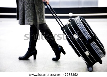 on airport - stock photo