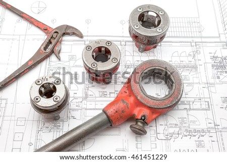 on an plan of an house is there an pipe thread cutter