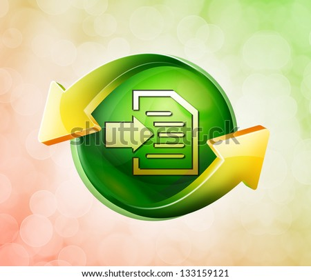 On behalf of the spring green icon - stock photo