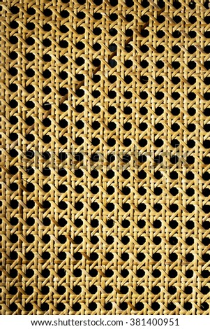 on black rattan texture for use as background