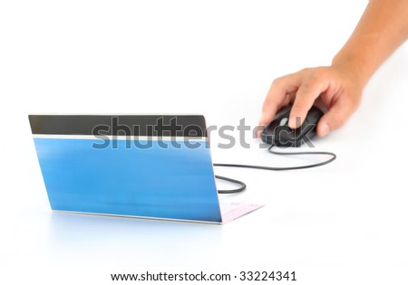 On-line bank concept photography - stock photo