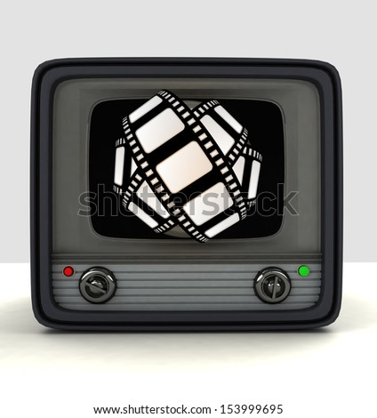 on-line broadcasting newest movie entertainment  illustration - stock photo