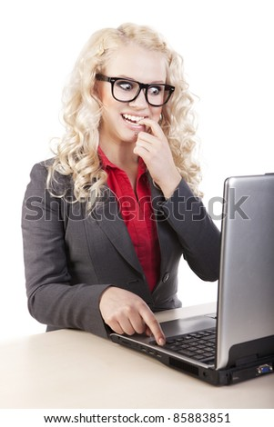 on-line chatting - stock photo
