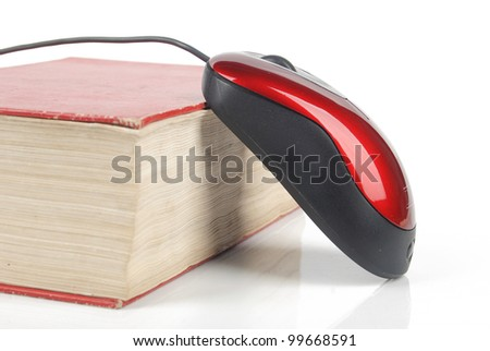 On line reading - stock photo