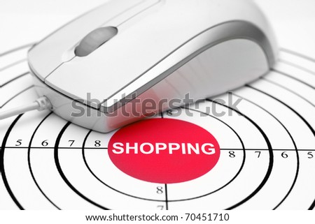 On-line shopping - stock photo
