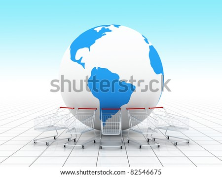 on line shopping - stock photo