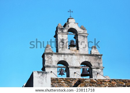On of the several historic missions of the San Antonio National Heritage Park in Texas - stock photo