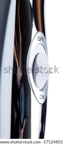 On-off switch on a shower tube, isolated - stock photo