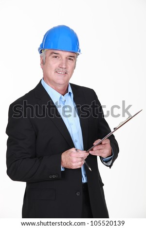 On-site inspection - stock photo
