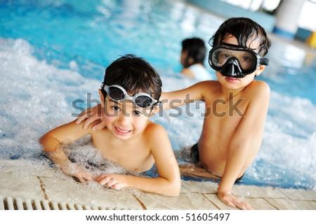 On swimming pool - stock photo