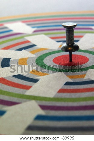 On target - vertical - stock photo
