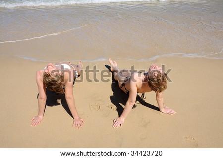 On the beach. Canary Island Fuerteventura, Spain - stock photo