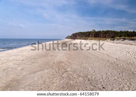 On the beach of Darss, Germany - Weststrand