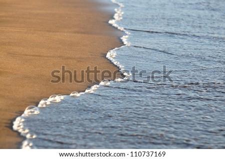 On the beach, Tenerife, Canary islands, Spain - stock photo