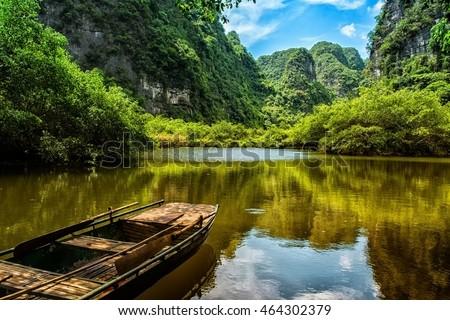 On the boat at Trang An - Ninh Binh