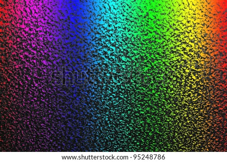 On the galvanized sheet surface are seeing many reflections. - stock photo