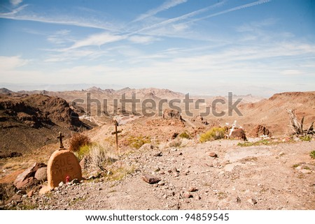 On the historic road 66, in Arizona deserts - stock photo