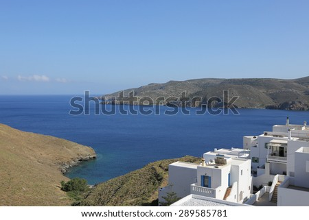 on the island of Astypalea, Greece - stock photo