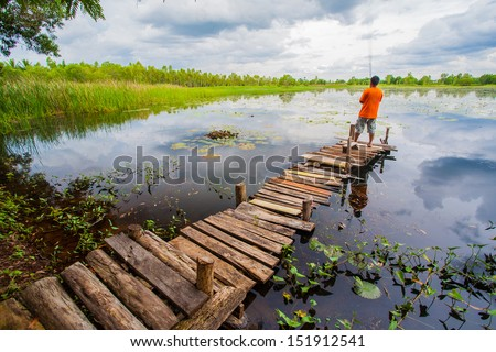 on the lake  - stock photo