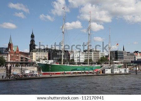 on the port of Hamburg