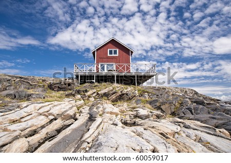 On the skerry island of Astol, Sweden - stock photo