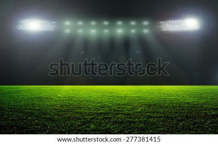 On the stadium. abstract football or soccer backgrounds . - stock photo