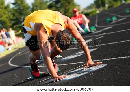 On the starting line - stock photo