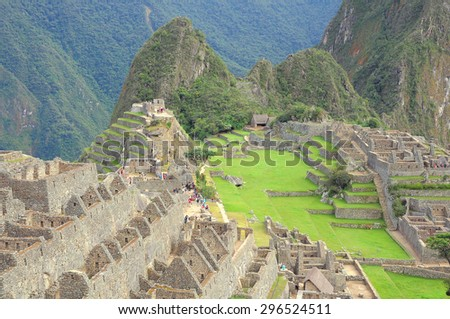 On the streets of Machu Picchu. Peru. - stock photo
