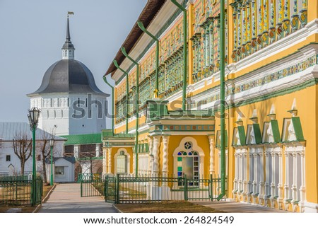 On the streets of Trinity Sergius Lavra in Sergiev Posad. Moscow region. Russia.  - stock photo