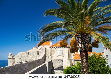 On the walls of Dubrovnik Old Town in Croatia, Europe