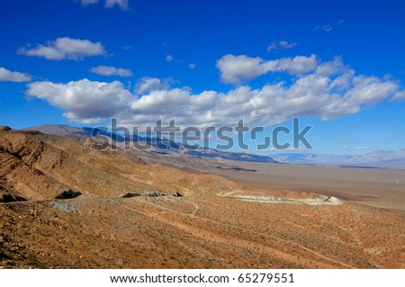 On the way to death Valley California - stock photo
