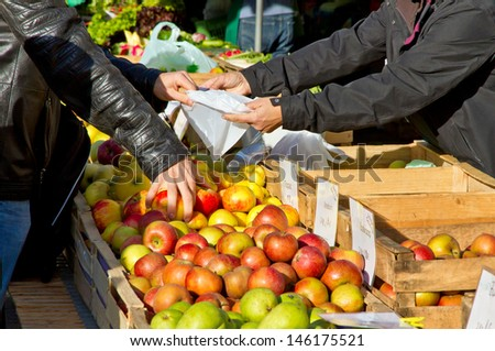 On the weekly market - stock photo