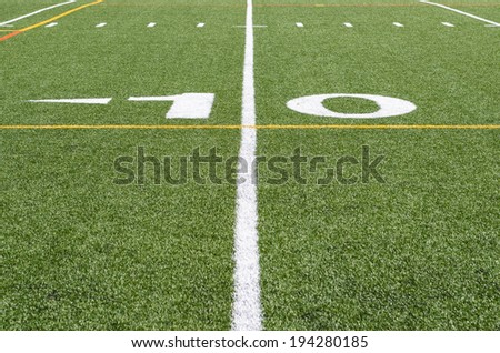 On the 10 yard line - stock photo