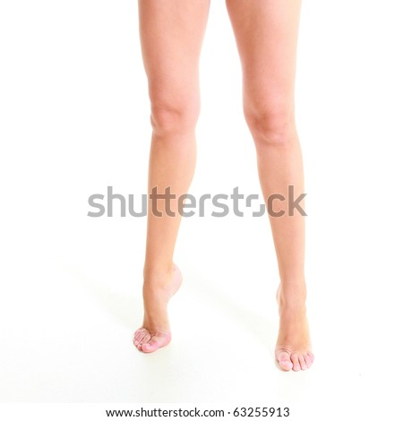 On toes - stock photo