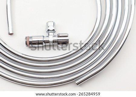 on white paper there is a role shillings tube - stock photo
