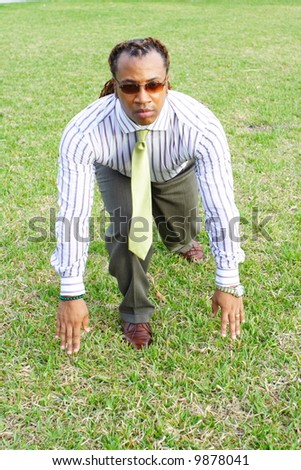On Your Mark - stock photo